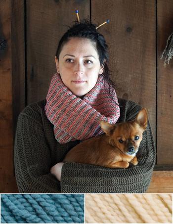 Knitting kits Popham Cowl Kit - Blue Jay