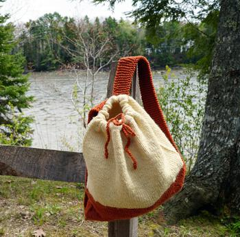 Knitting patterns Auditorium - Knitted Backpack Pattern
