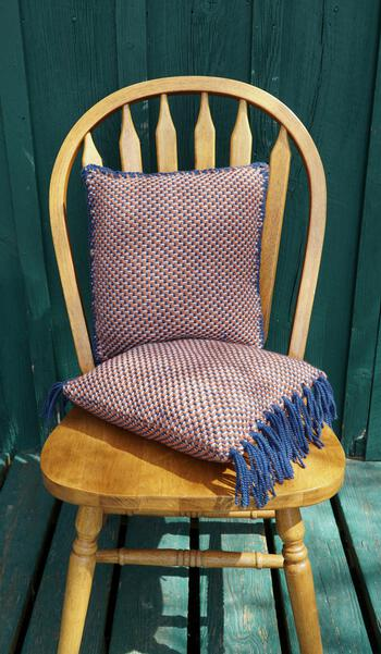 Weaving patterns Vacationland Woven Pillows