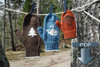 Knitting patterns Pemaquid Mitts - Pattern Download