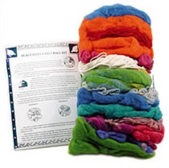 Felting kits Peace Fleece Felted Ball Kit