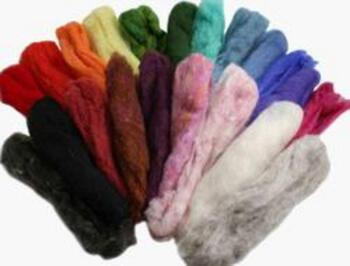 Multi-Craft kits Felting Fiber: Peace Fleece Rainbow Pack