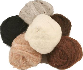 Multi-Craft kits Peace Fleece Batting Bundles Animal Fur/Skin Tones