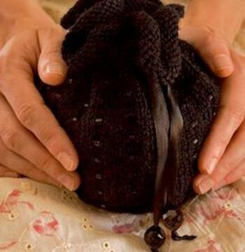 Knitting kits Beaded Bag Kit  - Black