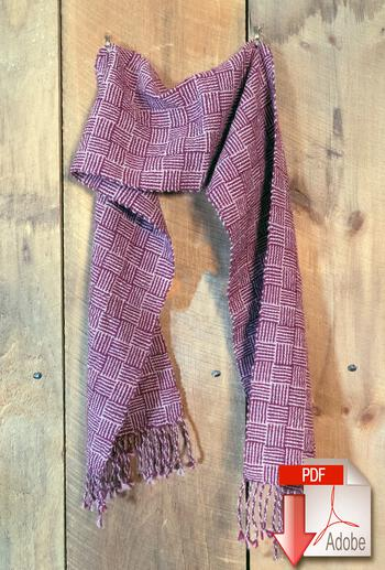 Weaving patterns Rivers and Roads - Woven Scarf Pattern Download
