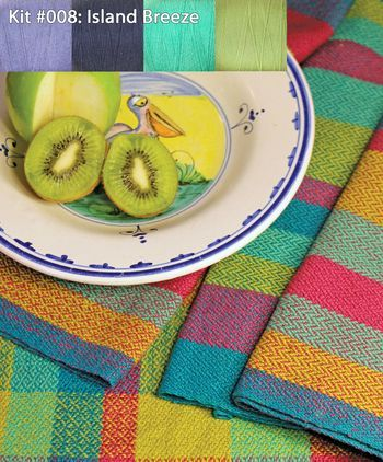 Weaving kits Organic Cottolin (Cotolin) Island Breeze Tea Towel Kit Number 8