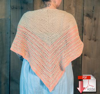 Crochet patterns Waiting Room - Crocheted Shawl Pattern Download