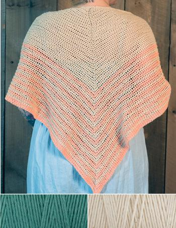 Crochet kits Waiting Room Crocheted Shawl Kit - Duck