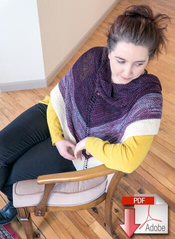 Knitting patterns Space Oddity Shawl - Download