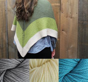 Knitting kits Space Oddity Shawl Kit - Blue