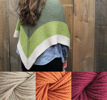 Knitting kits Clearance - Space Oddity Shawl Kit - Warm