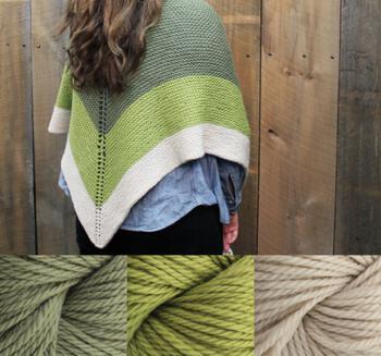 Knitting kits Space Oddity Shawl Kit - Green