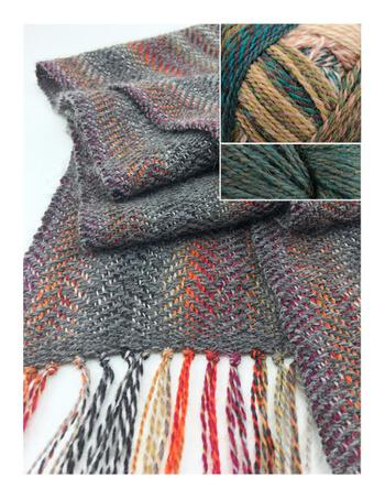 Weaving kits Oktoberfest Woven Scarf Kit - Evergreen