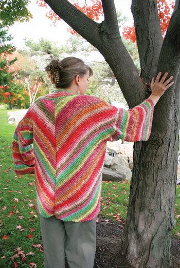 Knitting patterns Diagonal Kimono - Noro Taiyo