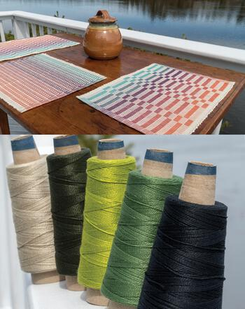 Weaving kits Lovely Day Rep Weave Kit Color: Forest - Dark Greens