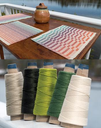 Weaving kits Lovely Day Rep Weave Kit Color: Forest - Light Greens