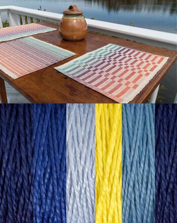 Weaving kits Lovely Day Rep Weave Kit Color: Glacier - Dark Blue