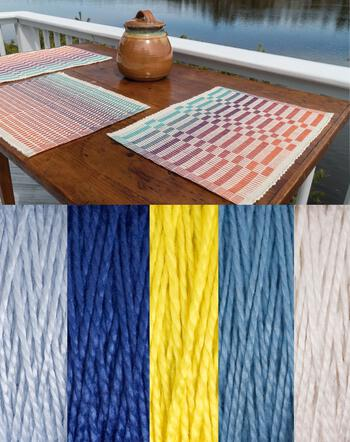 Weaving kits Lovely Day Rep Weave Kit Color: Glacier - Light Blue