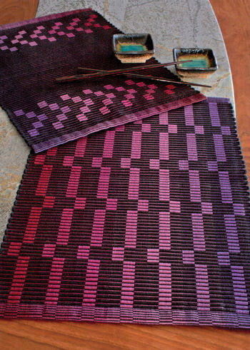 Weaving patterns Rep Weave Placemat Pattern - 10/2 Pearl Cotton