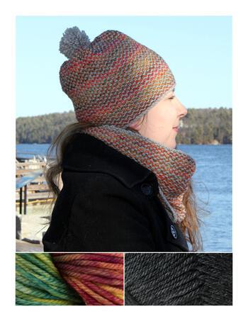 Knitting kits Telephone Line Set - Hat and Cowl Kit - Arco Iris