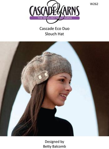 Knitting patterns Cascade Eco Duo Slouch Hat Pattern