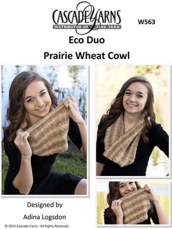 Knitting patterns Cascade Eco Duo Prairie Wheat Cowl