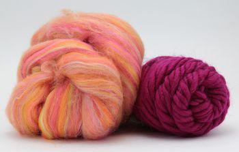 Knitting kits Snuggly Stuffed Mitten Kit, fuchsia