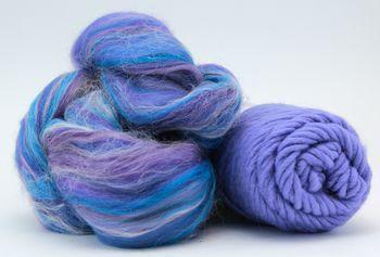Knitting kits Snuggly Stuffed Mitten Kit, periwinkle