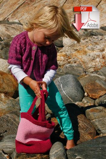Crochet patterns Shell Seeker Tote - Cotton Fleece or Light Weight - Pattern download