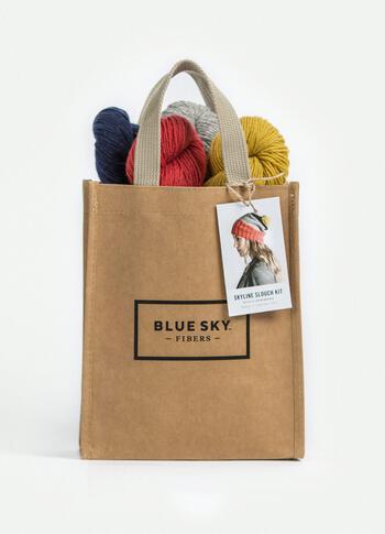 Knitting kits Blue Sky Fibers Skyline Slouch Hat Kit in Eco-Cashmere