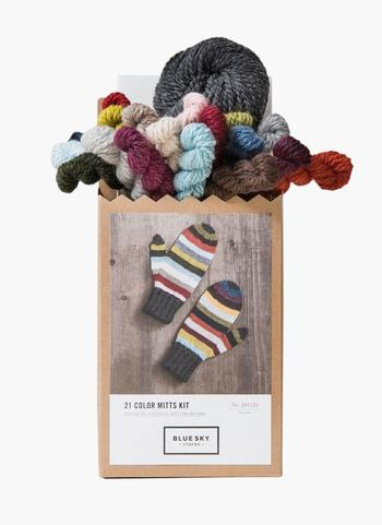Knitting kits Blue Sky Fibers 21 Colors Mittens Kit