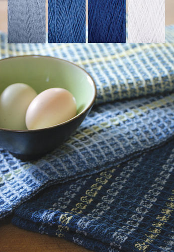 Weaving kits Waffle Weave Dish Towel Kit  - Ocean Waves