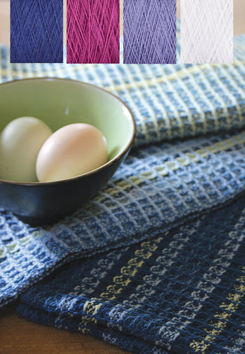 Weaving kits Waffle Weave Dish Towel Kit  - Lupines