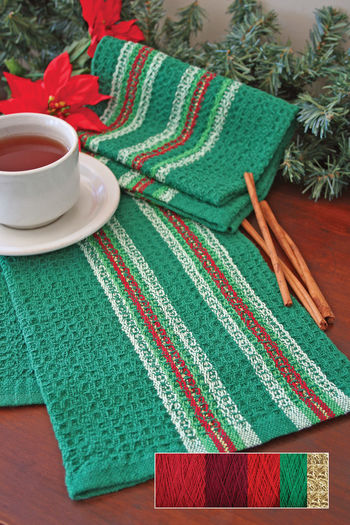 Weaving kits Waffle Weave Dish Towel Kit  - Holiday Reds