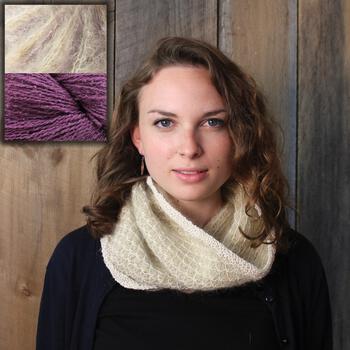 Knitting kits Royal Stitch Cowl Kit - Purple
