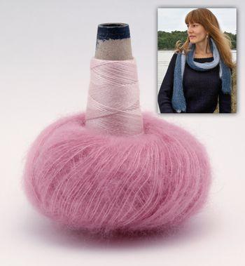Knitting kits Luxury Honeycomb Scarf Kit