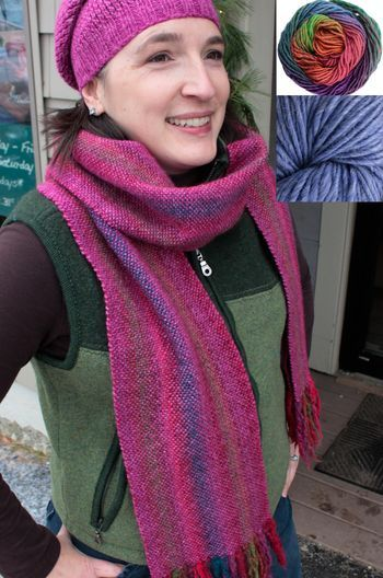 Weaving kits Chill Chaser Woven Scarf Kit - Icy Waters