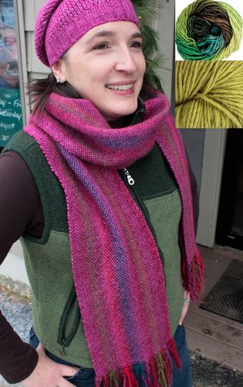 Weaving kits Chill Chaser Woven Scarf Kit - Mossy Banks