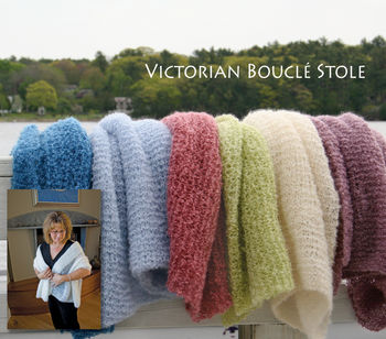 Knitting patterns Victorian Boucle Stole