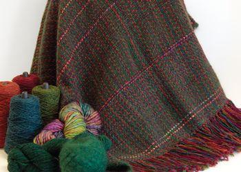 Weaving patterns Forest Glen Broken Twill Throw