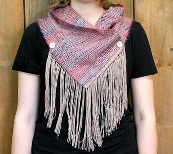 Weaving patterns Obladi Oblada Woven Fringed Cowl Pattern