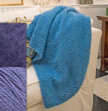 Knitting kits Periwinkle Victorian Luxury Throw Kit