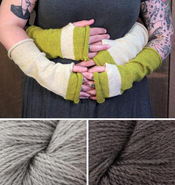 Knitting kits Whole Wide World - Fingerless Mitts Kit (Neutral)