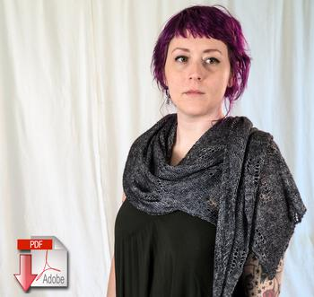Knitting patterns All Through the Night Wrap - Pattern Download