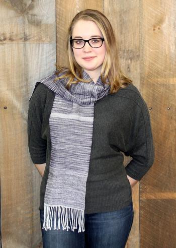 Knitting patterns Serendipity Woven Scarf Pattern