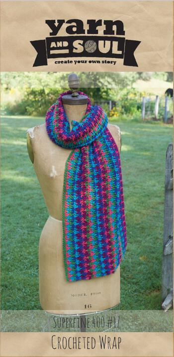 Knitting patterns Crocheted Wrap Pattern by Yarn and Soul