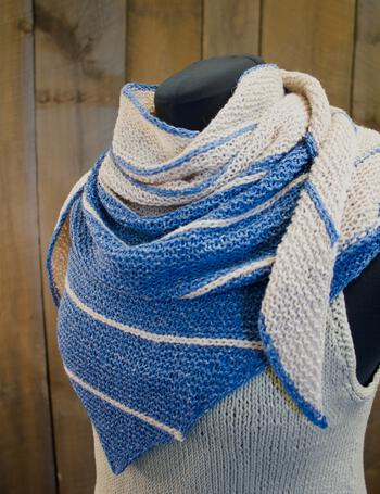 Knitting patterns Under the Boardwalk Shawl