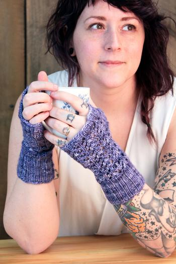 Knitting patterns Cupid's Victim Mitts Pattern