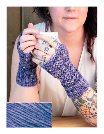 Knitting kits Cupid's Victim Mitts Kit - London Sky