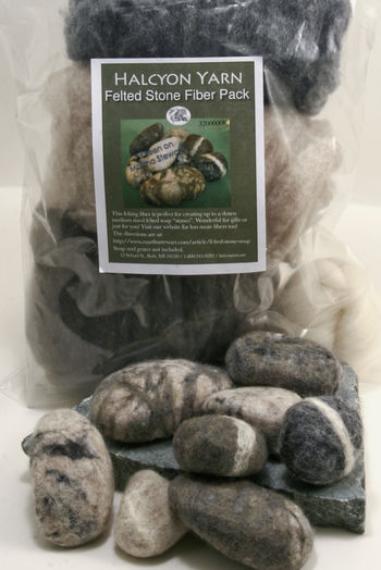 Felting kits Felted Soap Stones Fiber Pack Kit